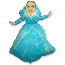 Фольгированный воздушный шар-фигура Снежная королева (99 см)