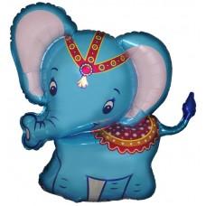 Фольгированный воздушный шар-фигура Слоненок синий (86 см)