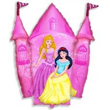 Фольгированный воздушный шар-фигура Замок принцессы розовый (86 см)