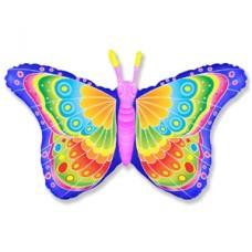 Фольгированный воздушный шар-фигура Бабочка кокетка фуше (97 см)