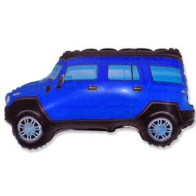 Фольгированный воздушный шар-фигура Внедорожник Джип синий (84 см)