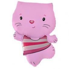 Фольгированный воздушный шар-фигура Котенок розовый (76 см)