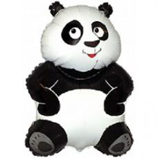 Фольгированный воздушный шар-фигура Большая панда белый (84 см)