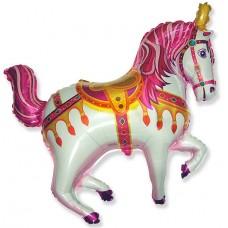 Фольгированный воздушный шар-фигура Лошадь ярмарочная фуше (99 см)