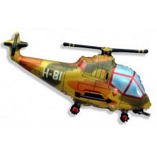 Фольгированный воздушный шар-фигура Вертолет военный (97 см)