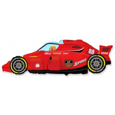Фольгированный воздушный шар-фигура Формула 1 красный (91 см)