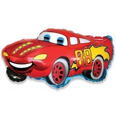 Фольгированный воздушный шар-фигура Гоночная машина красный (81 см)
