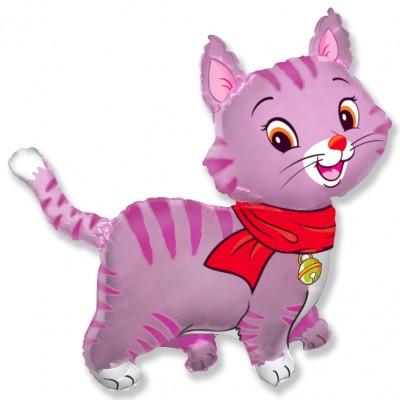 Фольгированный воздушный шар-фигура Любимый котенок фуше (81 см)
