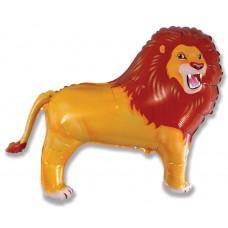 Фольгированный воздушный шар-фигура Лев коричневый (84 см)