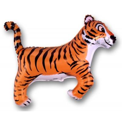 Фольгированный воздушный шар-фигура Тигр черный (91 см)