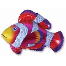Фольгированный воздушный шар-фигура Рыба-клоун фуше (89 см)
