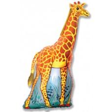 Фольгированный воздушный шар-фигура Жираф оранжевый (119 см)