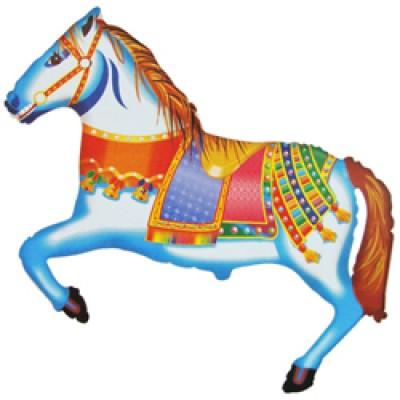 Фольгированный воздушный шар-фигура Цирковая лошадка (107 см)