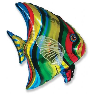 Фольгированный воздушный шар-фигура Тропическая рыбка (66 см)