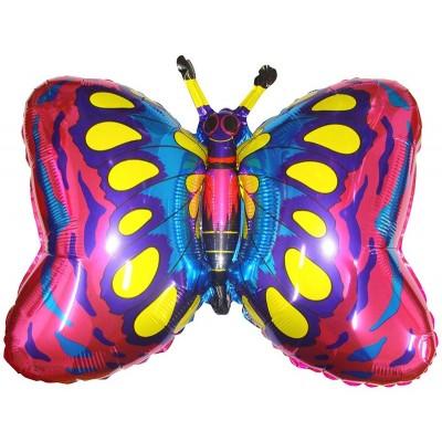 Фольгированный воздушный шар-фигура Бабочка фуше (89 см)