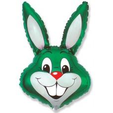 Фольгированный воздушный шар-фигура Заяц зеленый (89 см)