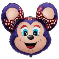 Фольгированный воздушный шар-фигура Бабси-Маус фиолетовый (76 см)