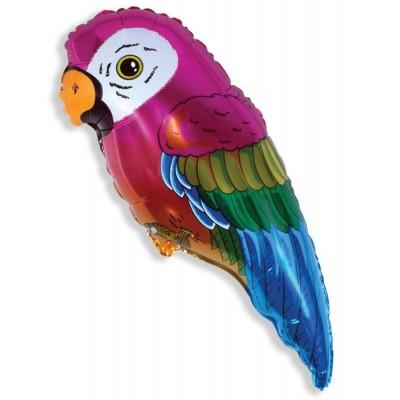 Фольгированный воздушный шар-фигура Супер попугай (89 см)