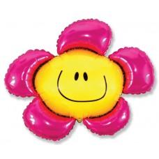 Фольгированный воздушный шар-фигура Солнечная улыбка фуше (104 см)