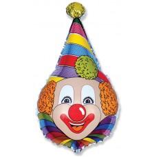 Фольгированный воздушный шар-фигура Клоун (71 см)