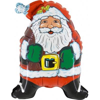 Фольгированный воздушный шар-фигура Супер Дед Мороз (81 см)