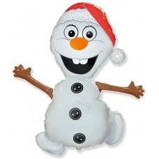 Фольгированный воздушный шар-фигура Снеговик (81 см)