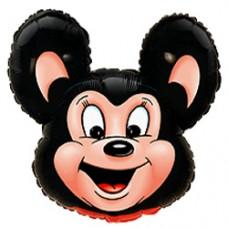 Фольгированный воздушный шар-фигура Могучая мышь черный (76 см)