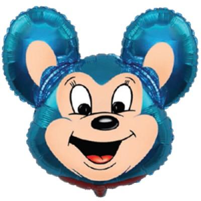 Фольгированный воздушный шар-фигура Могучая мышь синий (76 см)