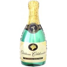 Фольгированный воздушный шар-фигура Бутылка Шампанское (99 см)