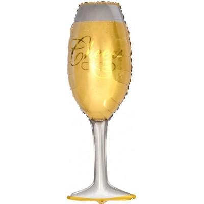 Фольгированный воздушный шар-фигура Бокал шампанского (104 см)