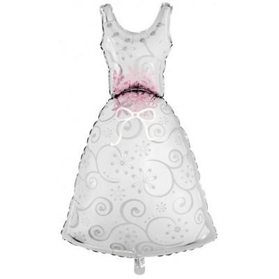 Фольгированный воздушный шар-фигура Платье невесты (104 см)