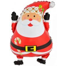 Фольгированный воздушный шар-фигура Дед Мороз (66 см)