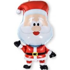Фольгированный воздушный шар-фигура Веселый Санта (81 см)