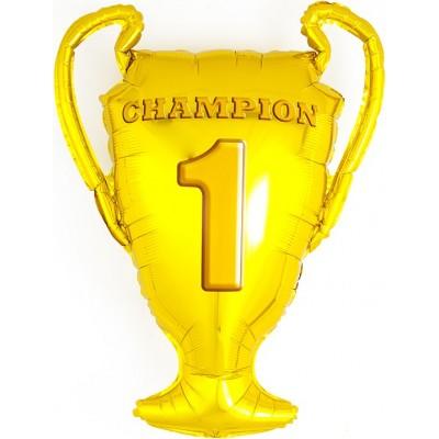 Фольгированный воздушный шар-фигура Кубок Чемпионов золото (71 см)