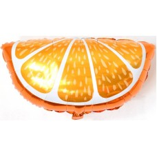 Фольгированный воздушный шар-фигура Долька апельсина (66 см)