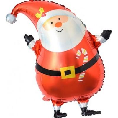 Фольгированный воздушный шар-фигура Санта в красном колпачке (74 см)