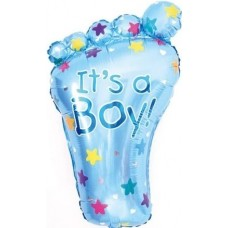Фольгированный воздушный шар-фигура Ножка малыша голубой (76 см)