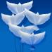 Фольгированный воздушный шар-фигура Голубь на свадьбу белый (86 см)