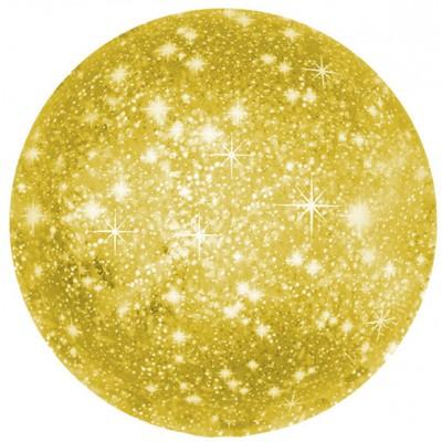 Однотонный фольгированный воздушный шар-круг искры золото (46 см)