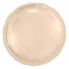 Однотонный фольгированный воздушный шар-круг Шампань (46 см)