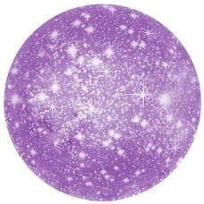 Однотонный фольгированный воздушный шар-круг искры фиолетовый (46 см)