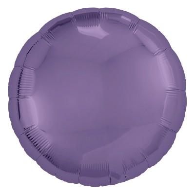 Однотонный фольгированный воздушный шар-круг Виноград (46 см)