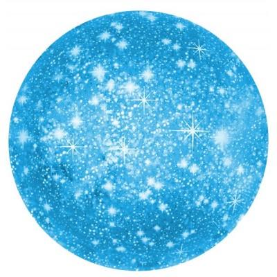 Однотонный фольгированный воздушный шар-круг искры голубой (46 см)