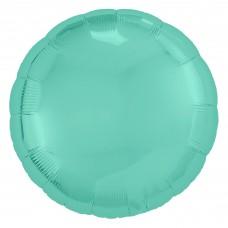 Однотонный фольгированный воздушный шар-круг бискайский зеленый (46 см)
