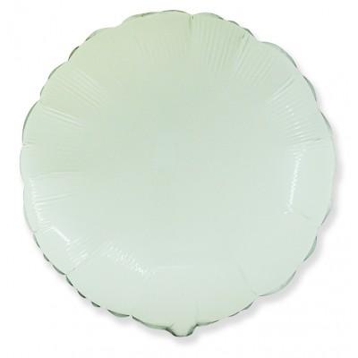 Однотонный фольгированный воздушный шар-круг белый (46 см)