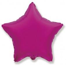 Однотонный фольгированный воздушный шар-звезда фуше (46 см)