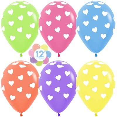Воздушный шар Сердца ассорти (30 см)
