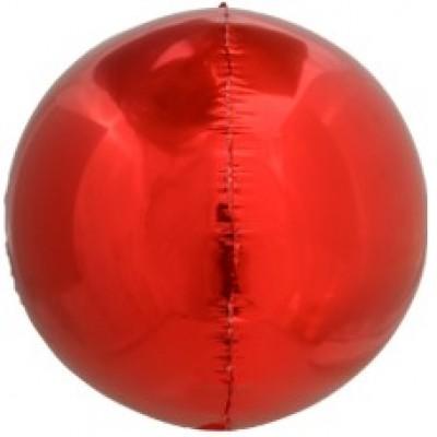 Шар-сфера 3D красный (61 см)