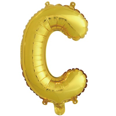"Шар-буква ""С"" золотая (41 см)"