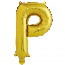 """Шар-буква """"Р"""" золотая (41 см)"""